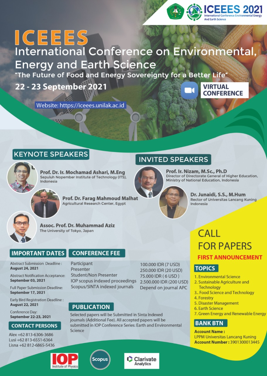 International Conference on Environmental, Energy and Earth Science (ICEEES)