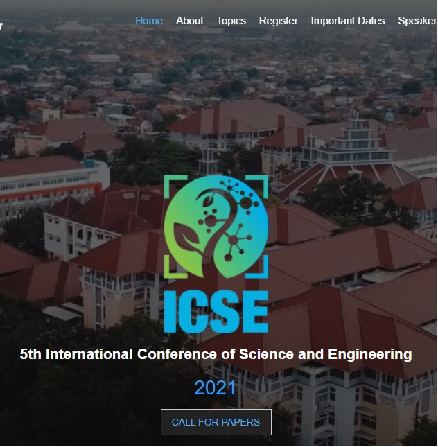 5th International Conference of Science and Engineering