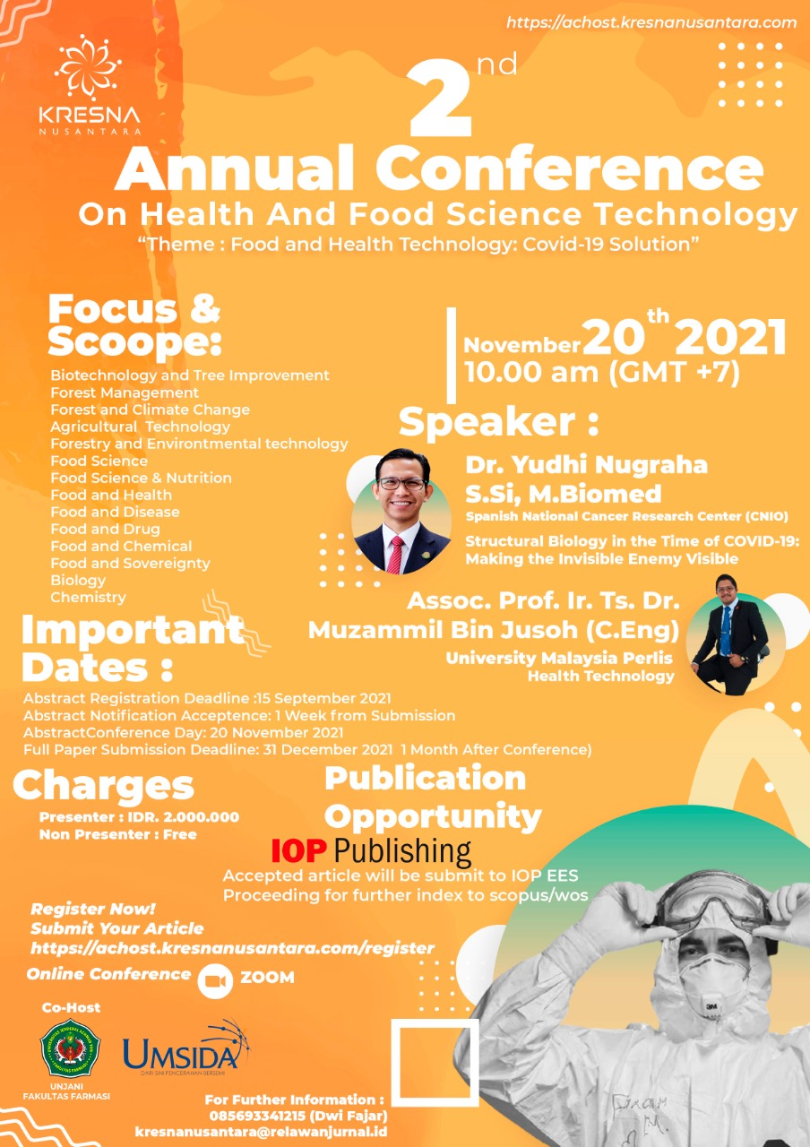 2nd Annual Conference On Health And Food Science Technology